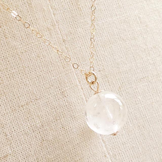 世界屈指の霊峰・ヒマラヤの力 ヒマラヤ水晶(ガネーシュヒマール産・高品質)Simpleネックレス