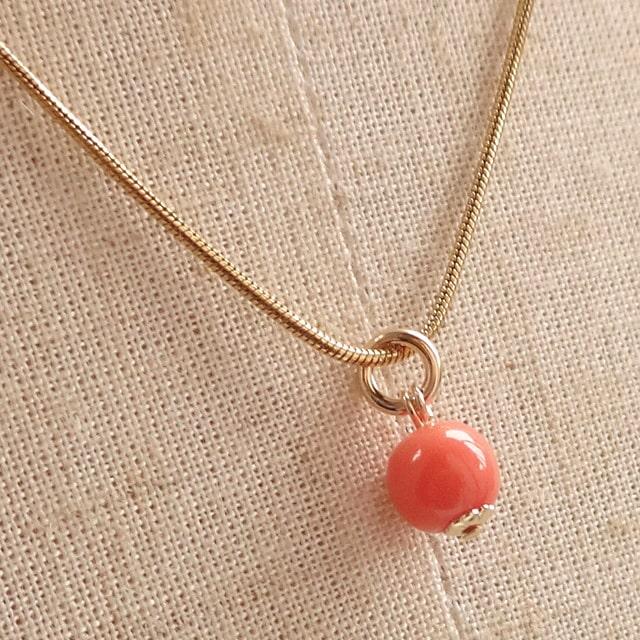 桃珊瑚(天然色) 日本近海産の海の恵み ネックレス