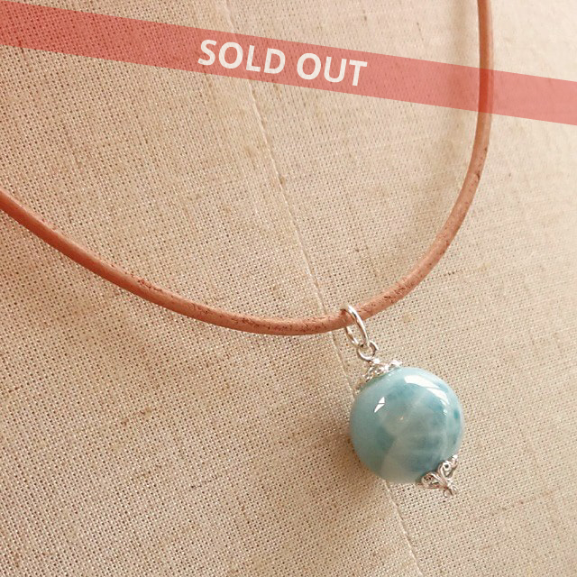 ラリマー(超大粒・高品質)|世界三大ヒーリングストーンの中で最も人気のある希少石|Simpleネックレス|ドミニカ共和国からの贈り物