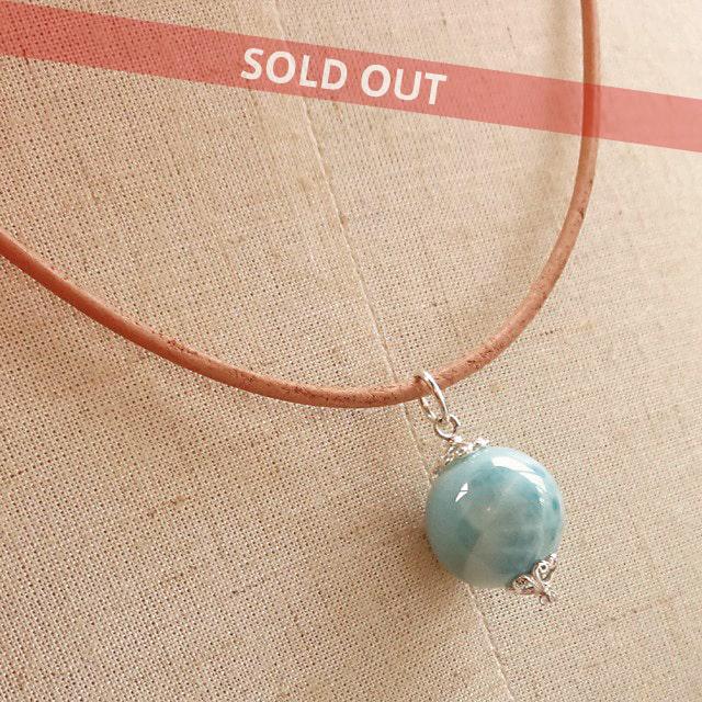 ラリマー(超大粒・高品質) 世界三大ヒーリングストーンの中で最も人気のある希少石 Simpleネックレス ドミニカ共和国からの贈り物