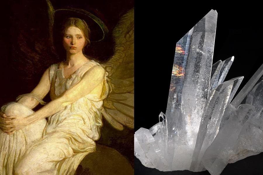 天使と水晶の融合
